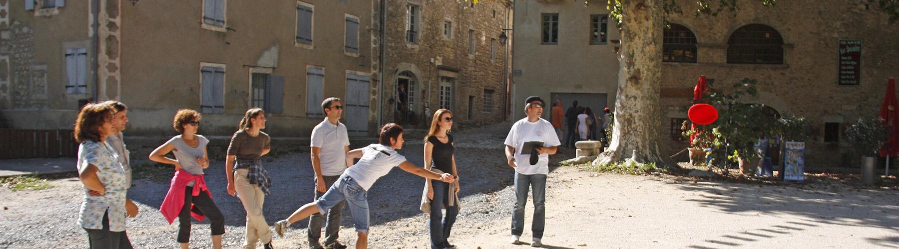 "Seminar in the Ardèche: A walking tour round a ""Village de caractère"""